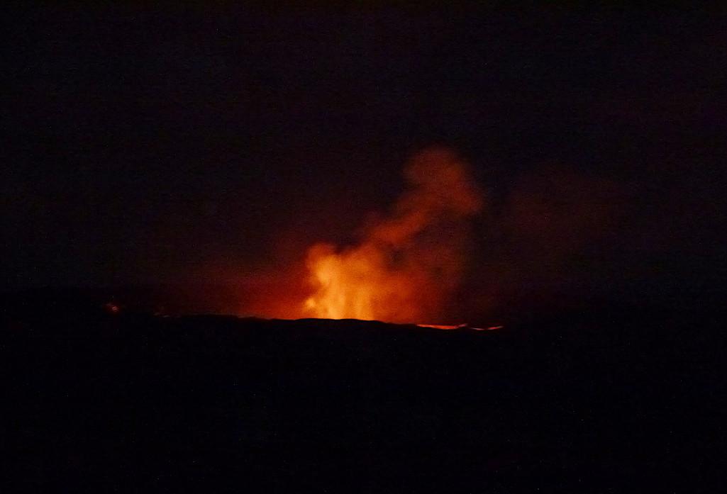 Wandern im Feuerschein des Vulkans