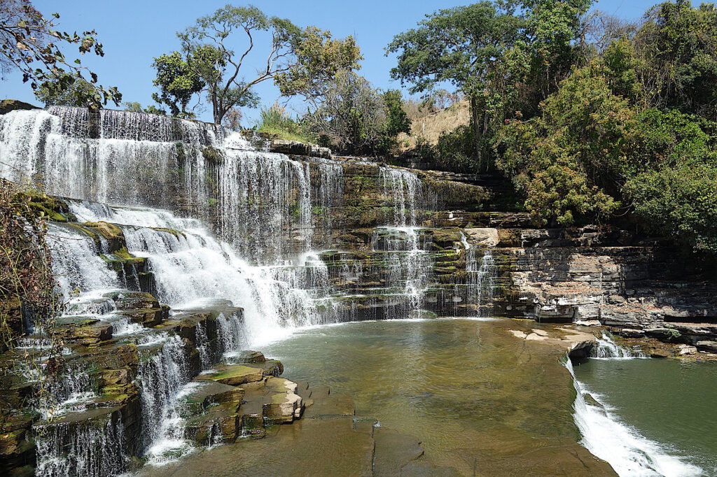 Wasserfall-Katanga-Kongo