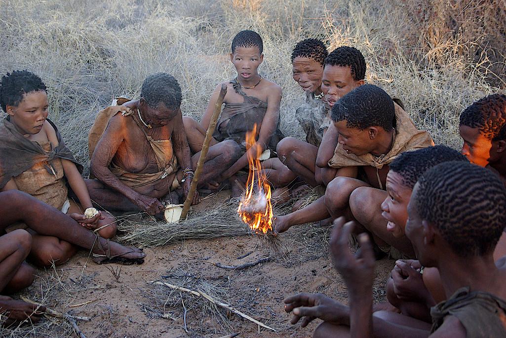 San-Kalahari-Botswana